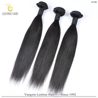 Leshinehair Long Lasting One Donor Authentic Root Human Hair Weave Virgin Brazilian