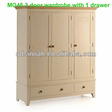 3 door wardrobe/closet/clothes wardrobe/wooden furniture