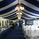 100 people luxury event tent restaurant tent with drapery and curtain