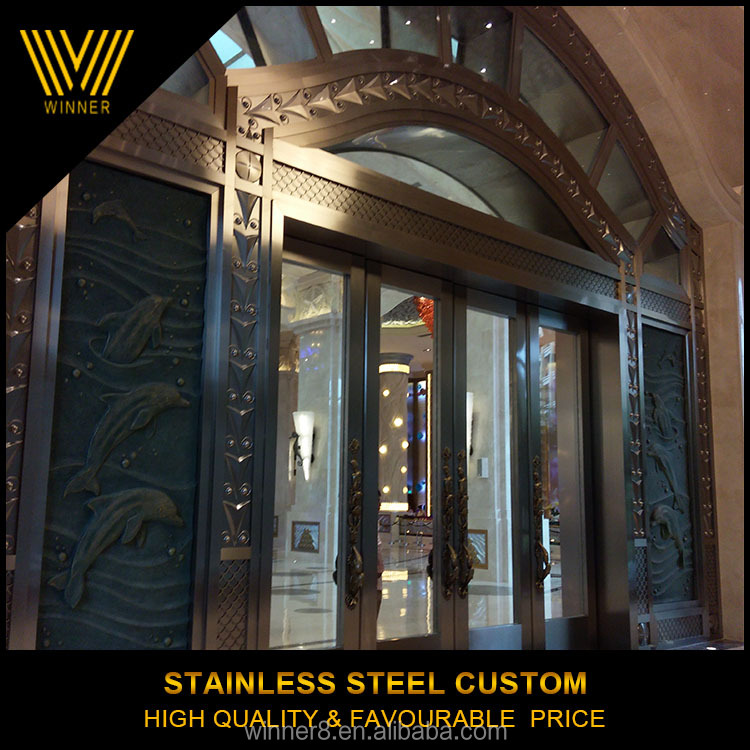Custom Elegant Modern stainless steel gate decoration