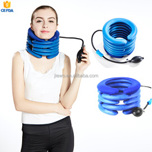 portable air inflate neck traction device, 5 layers latex cervical traction device