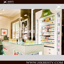 Supply Italy Style Cosmetic Display Kiosk Showcase