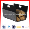 2014 New Top Quality Fireplace Felt Log Timber Carrier with Wooden Stick Handles