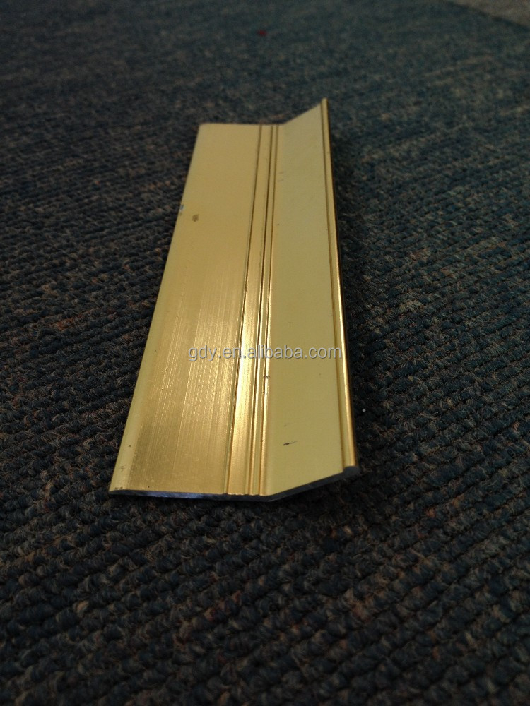 aluminum carpet gripper Aluminum Carpet Edge Strip carpet to floor transition With Gold And Silver From GDY
