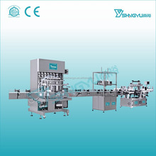 Factory making liquid soap 4 head filling machine with conveyor