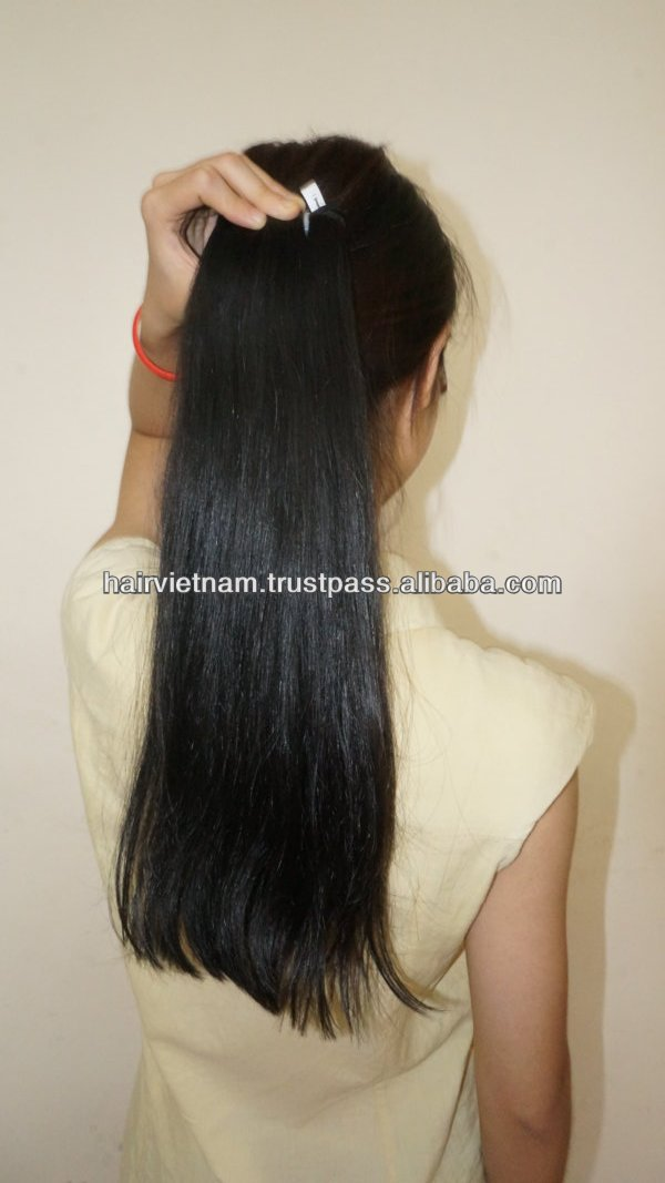 Medium coarse hair extension for African American straight machine weft