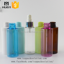 custom made empty colored plastic 100ml spray bottle for cosmetic