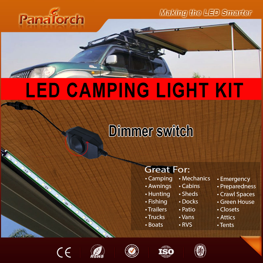 High Brightness 4x40cm barLong Distance Control led Camping Light C5521Efor Outdoor Lighting