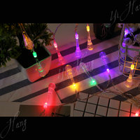 Fashion xmas icicle meteor lights of battery light fairy for crystal ball led string light