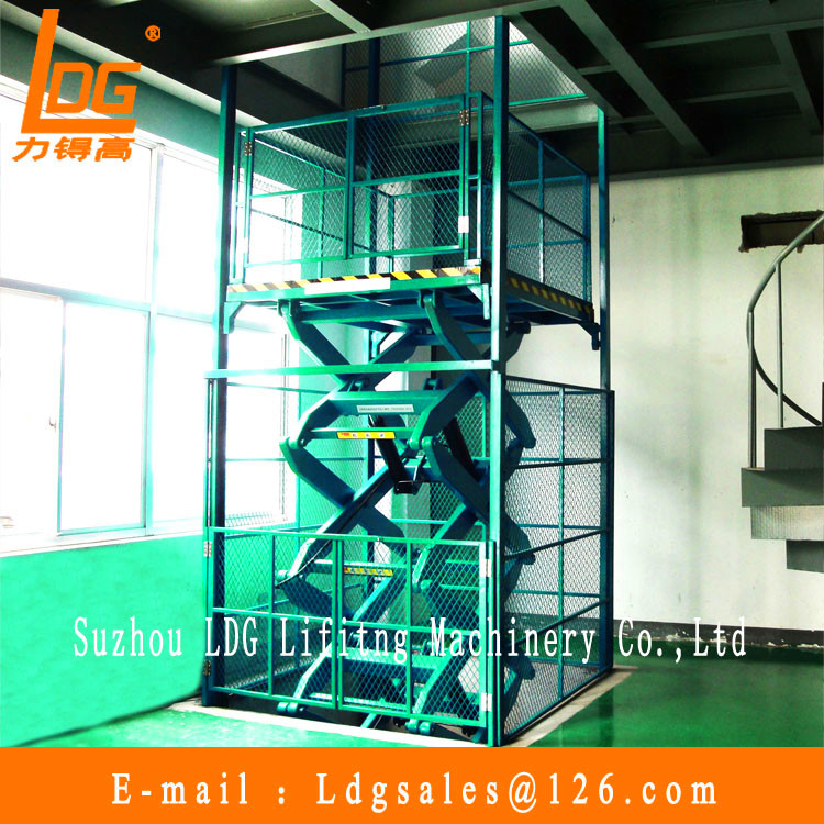 Hydraulic scissor lift elevator with SJG3-6