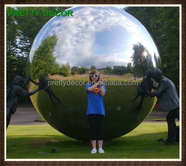 Modern Spherical Garden Sculptures of Large Stainless Steel Hollow Sphere