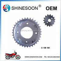 High quality and fast delivery motorcycle chain and sprocket set