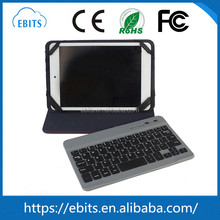 "Fashion portable convenient leather shell detachable 7"" bluetooth wireless keyboard for android tablet"