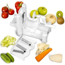 Greenwell 1 Tri Blade Vegetable Slicer - Spiral Cutter - Spiralizer for Vegetables, Fruit and Raw Food Cuisine