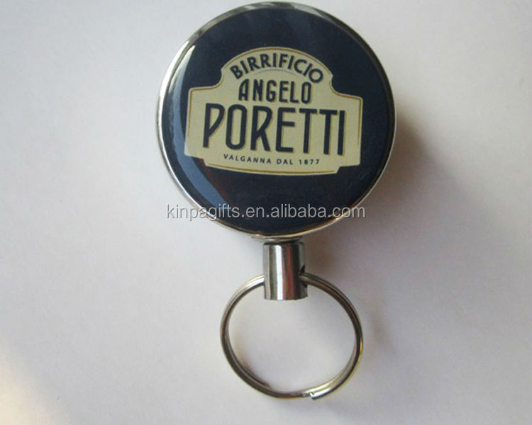 Round shape Retractable Badge Reel