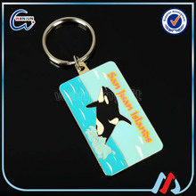 cheap custom logo printing keychain in bulk