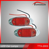 guangzhou auto light factory hot sale 15LED DC 12V Red blue yellow LED clearance lamp for car and truck tail light (TTX-2003)