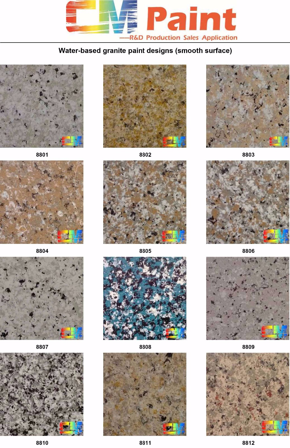 Acrylic liquid spray granite paint for exterior wall