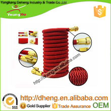 2016 USA amazon 50ft prime brass flexible Expandable Bungee Hose with metal gun