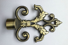 A078 Family Decoration Plating Nickel Curtain Pole Finial for Curtain accessory