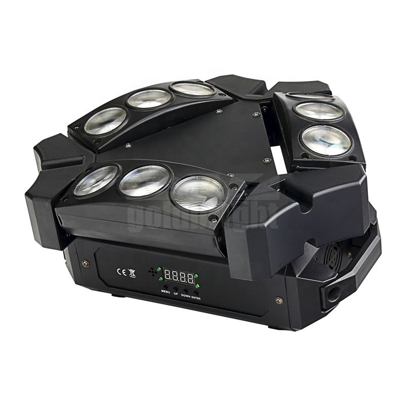 9 LED RGBW DJ Spider Moving Head Stage Lighting <strong>Beam</strong> Led Disco Party Lights
