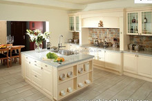 Maple solid wood coffee glazing Kitchen Cabinet designed