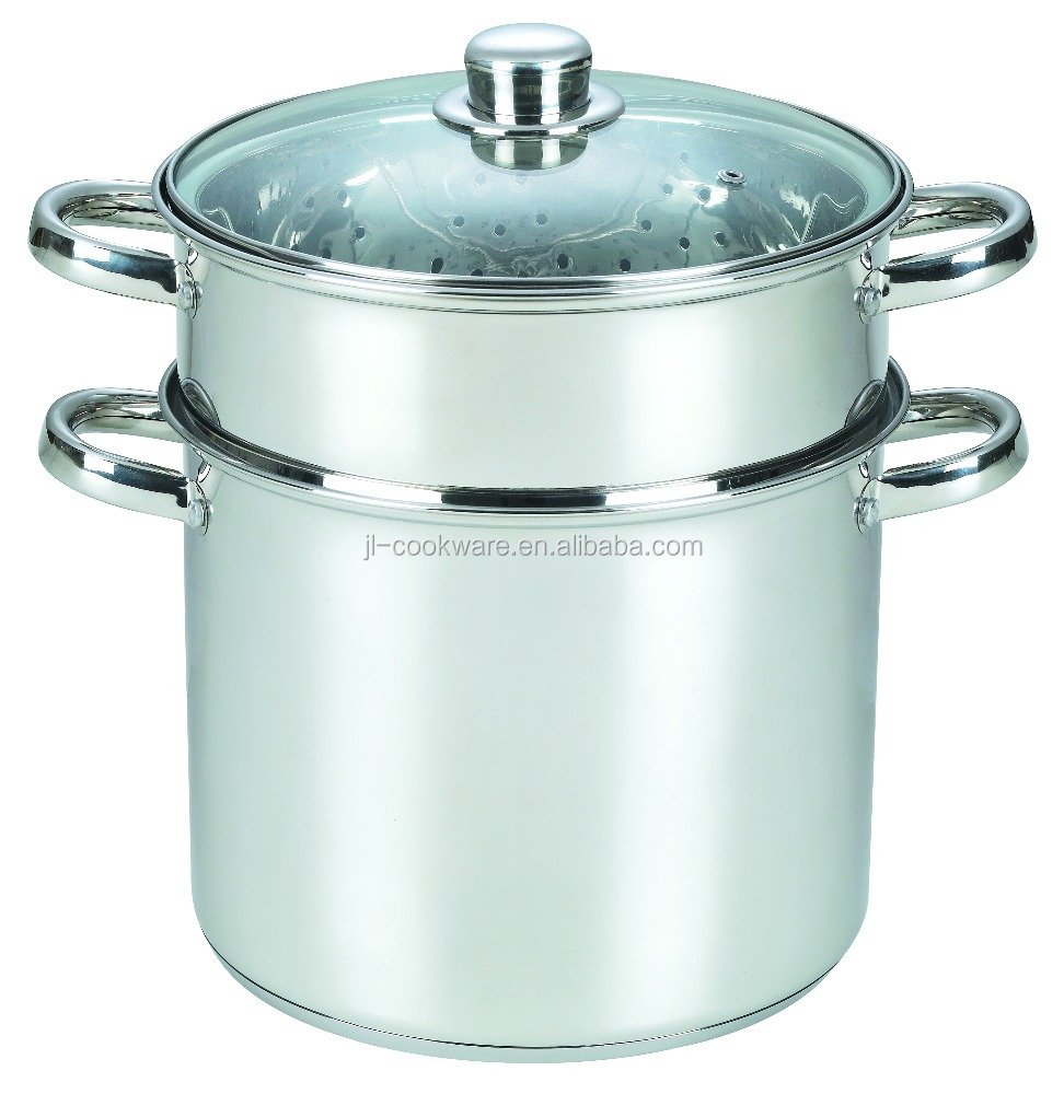 2015 newest best stainless steel cookware with 2 layer saladmaster cookware prices
