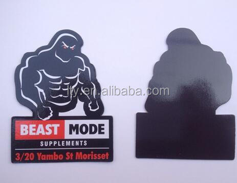 Promotional gift best mode strong man paper fridge magnet