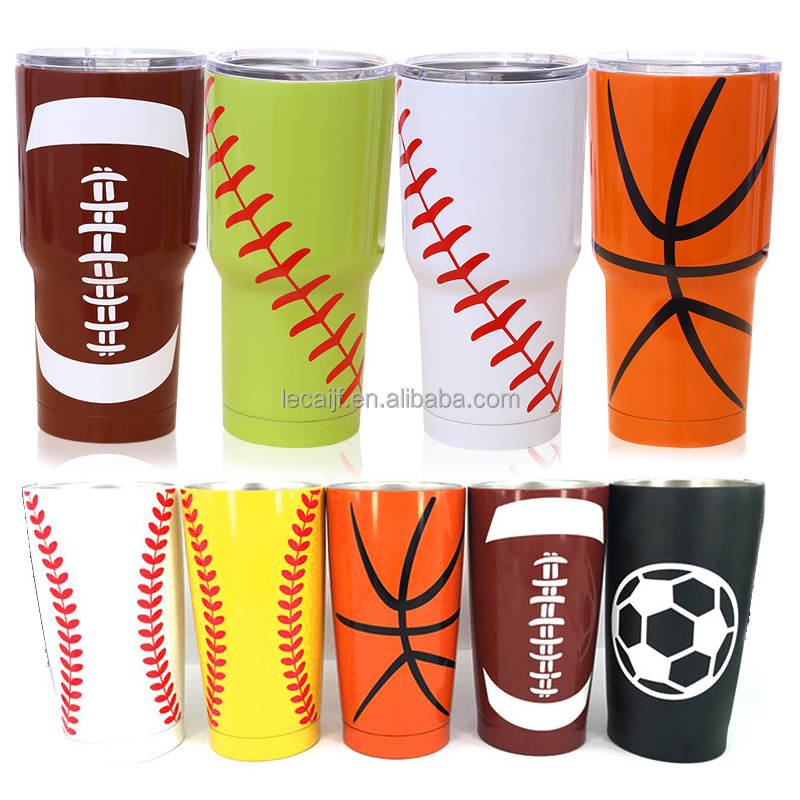 Customized Double Wall Personalized 20oz , 30oz Stainless steel baseball cup
