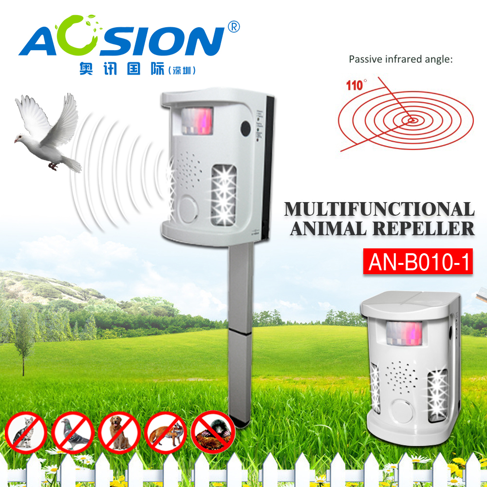 Aosion 2016 New Ultrasonic Pig Repellent With Flasahing AN-B010