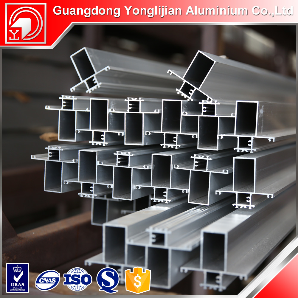 Anodized aluminium profile to make doors and windows