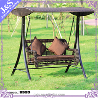 Metal Material and Outdoor Furniture General Use double seat modern appearance garden swing for lovers garden swing seat