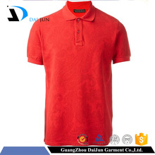 Daijun oem short sleeve polo neck in plain sport style breathable custom red men no label polo shirt