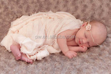 Hot Sale Newborn Baby Ruffle Stretch Wrap Baby Photography Blankets Baby props