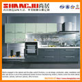 white lacquer with decoration wood grain kitchen cabinet factory