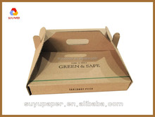 cardboard packaging for fast food takeaway box carry handle
