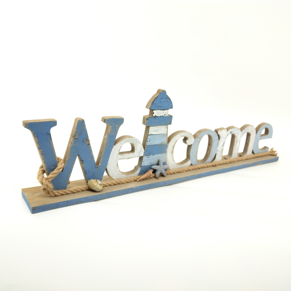 hot sale welcome custom wood letters for home decor