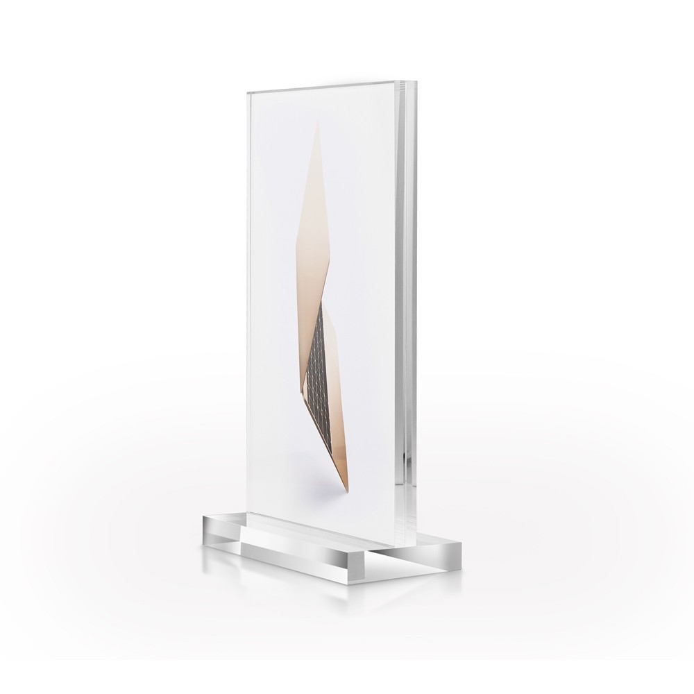 High quality cell phone T shape A4 paper acrylic display stand for apple retail store