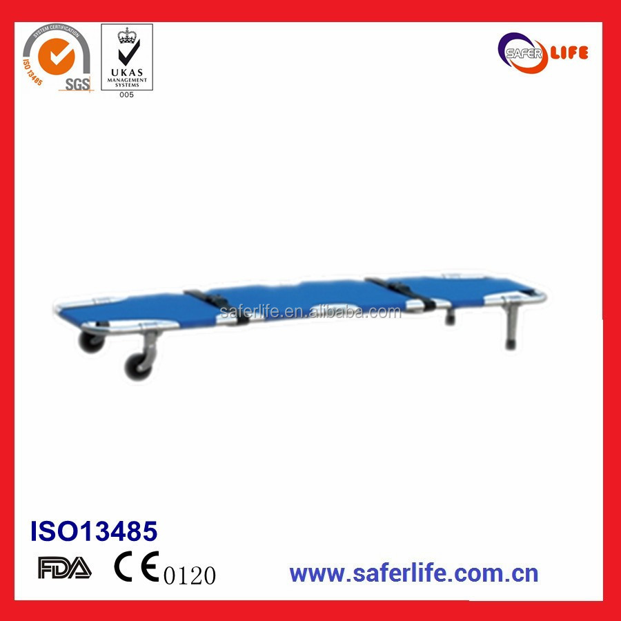 2017 Wholesale With FDA CE ISO emergency folding basket ambulance portable Aluminum stretcher