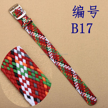 High Quality One Piece Mixed Color Perlon Watch Band Removable