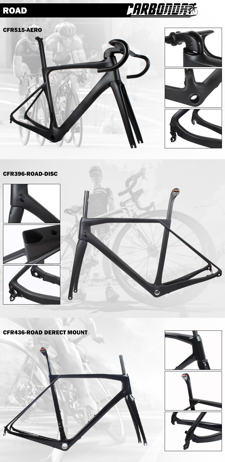 Carbon Cyclocross Gravel Frameset BB86 Disc Flat Mount 48cm