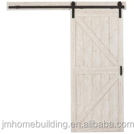Knotty solid wood core interior barn door slab
