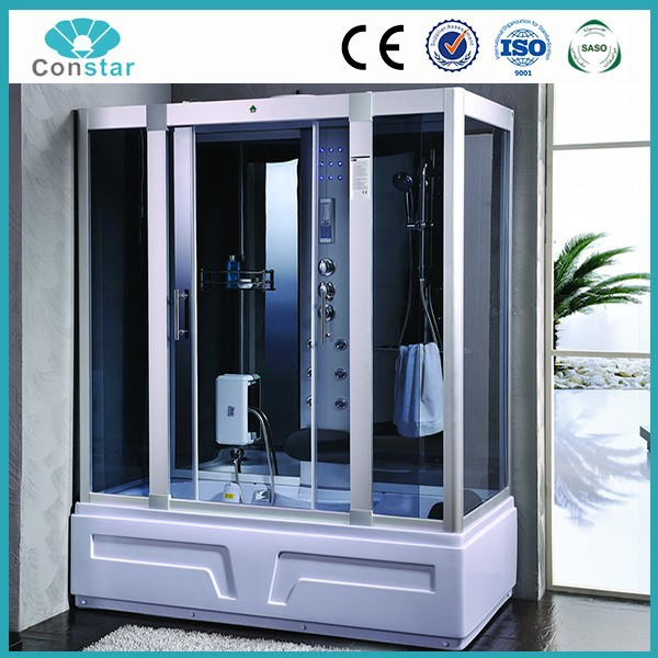 water-proof Main Material and Wet Steam Function sauna bath indoor steam shower room