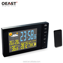 Home rf 433mhz automatic clock professional digital sensors wireless weather station
