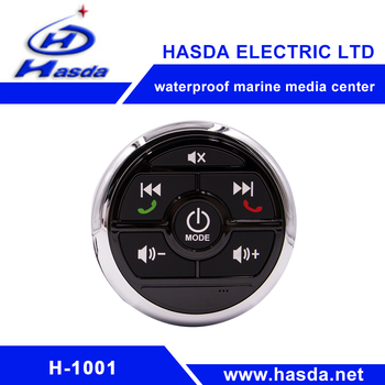 durable waterproof marine audio player with boat