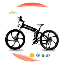 Eco friendly folding electric bike for long range riding with pedals