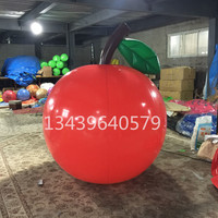 Inflatable lemon apple fruit off the air analog cartoon balloons drift hot air balloon