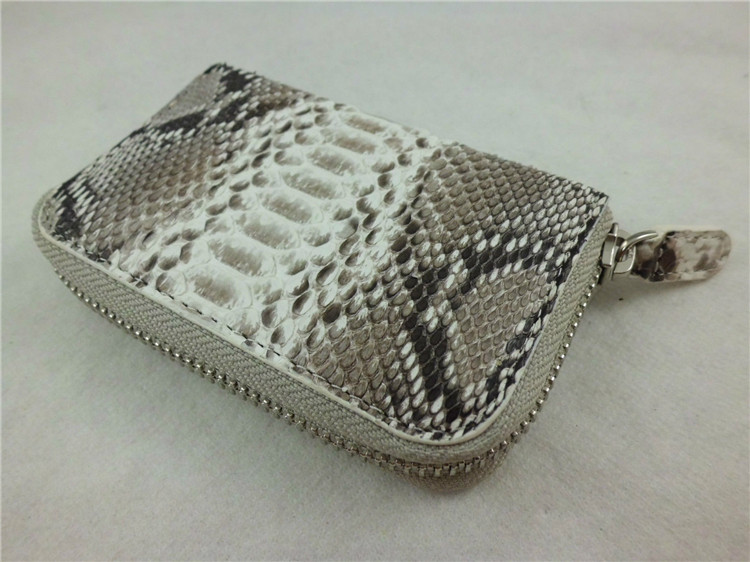 Hot Selling Key Holder Genuine Leather Key Wallet Pocket Key Case Snake Skin Credit Card Wallet