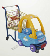 toy car shopping trolley / shopping cart / shopping trolley cart with baby seat