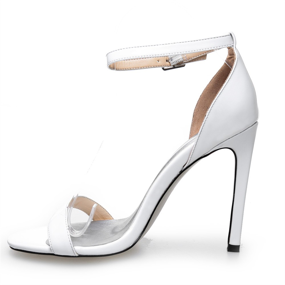 olns14 2017 wholesale white high heel shoes sandals